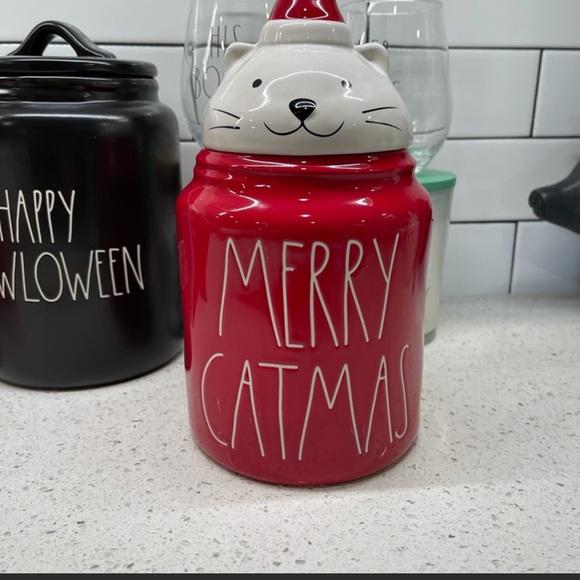 🆕 Rae Dunn Merry Catmas Medium Canister